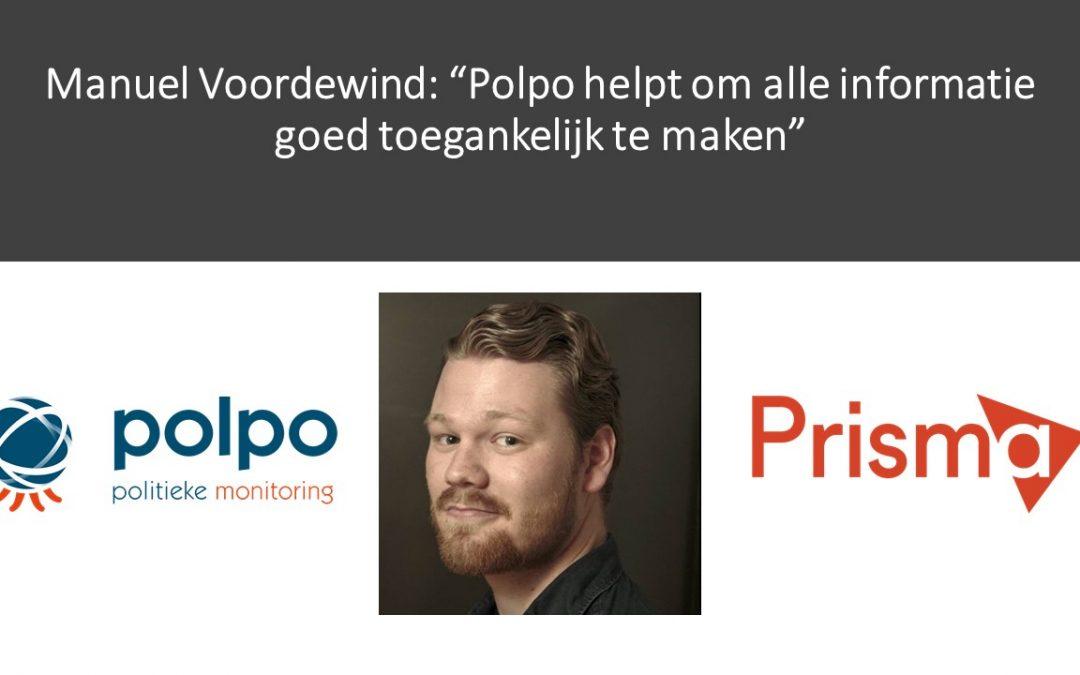 """Manuel Voordewind: """"Polpo helpt om alle informatie goed toegankelijk te maken"""""""