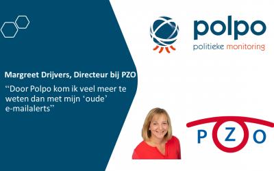 """Margreet Drijvers, Directeur bij PZO: """"Door Polpo kom ik veel meer te weten dan met mijn 'oude' e-mailalerts"""""""